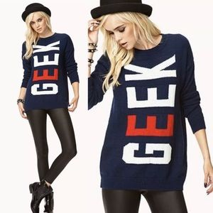 FOREVER 21 Geek Sweater